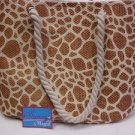 HUGE SUMMER BEACH SUNNY BAG by MAGID PAPER STRAW CARAMEL/NATURAL COLOR HANDBAG a