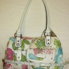 SEXY CHIC STRADA WOMEN'S HAND BAG SPRING FLOWERY & WHITE w/8 POCKETS NWT