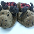 NEWBORN DEER SNUGGIE WARM BOOTIES SOCKS, BROWN SHOES w/RATTLES NWT