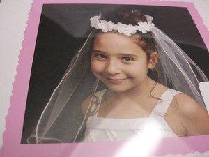Jessica Ann One Size Girl's Communion, Wedding Detachable Veil White Dbl Layer