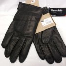 Fine Leather Men's DOCKERS sz L Black Stylish Lambskin Winter Warm Gloves NWT