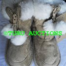 ELLEMENNO GIRL'S COZY WARM COMFY WINTER SHOES BOOTS size 6, Tan NEW