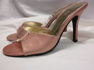 SEXY PINK LEATHER CHINESE LAUNDRY WOMEN'S KITTEN HEEL PUMP STILETTO SHOES 7M NEW