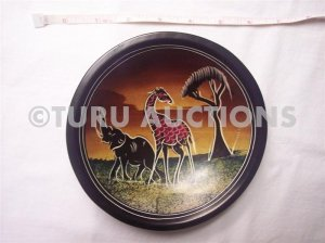 MASTER PIECE BOWL KISII AFRICAN SOAPSTONE BOWL DECORATIVE PLATE HAND MADE NEW!