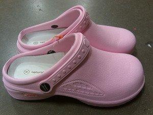 NEW Natural Uniforms Women's Nursing Shoes Clog Lightweight - Size 7 Pink