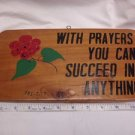 DECORATIVE HAND MADE WOODEN PLAQUE PRAYER WALL HANGING IMPORTED NEW