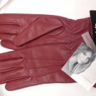 Sexy Jaclyn Smith Women's Three-Point 40gm Thinsulate Leather Gloves Reds M NWT