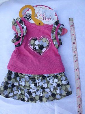 "CUTE DOLLIE and ME / AMERICAN GIRL DOLL DRESS OUTFIT fits ANY 18"" DOLL GARMENT D"