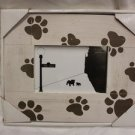 DECORATIVE PET DOG THEME WOOD PHOTO FRAME Fits 4x6 PHOTO BARK AVENUE NEW