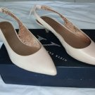 Anne Klein Women's Pipa Low Slingback Pansy Pumps 7 Nonslip Champagne $69