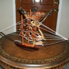 "Decorative Handmade Bamboo Wooden Sailing Pirate Ship Boat 24""from KENYA NW"