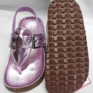CARTER'S LILAC/PINK GIRLS VIDA SANDALS METALLIC SIZE 8M NEW w/ELASTIC HEEL BAND