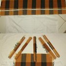 AFRICAN IMPORTED Authentic HANDWOVEN TABLE RUNNER Area Rug 6 Placement Mats NEW