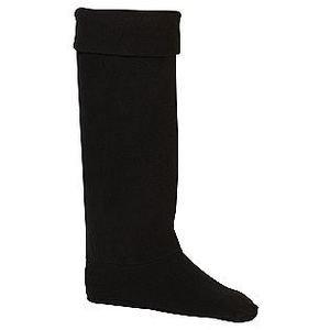 BOOT LINERS Personal Identity Women's Warm Fleece w/FUR Black Sz 5-7 msrp$29 NWT