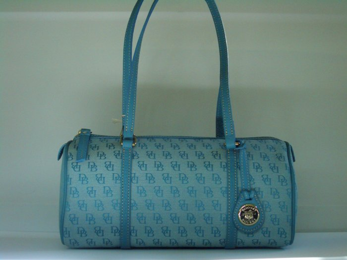 NWT DOONEY AND BOURKE BLUE BARREL BAG