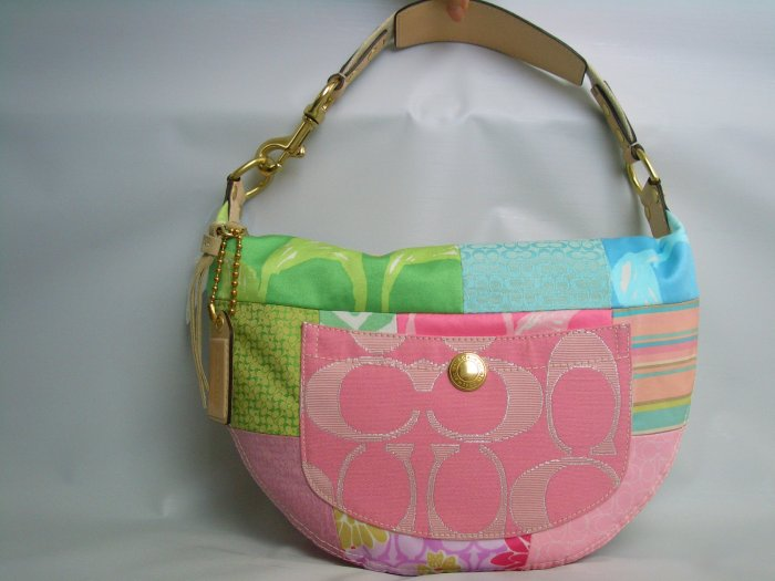 NWT COACH PATCHWORK HAMPTONS SMALL HOBO BAG