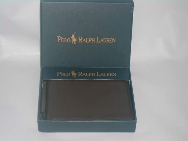 Authentic Men's Ralph Lauren Polo Cordova Passcase Leather wallet