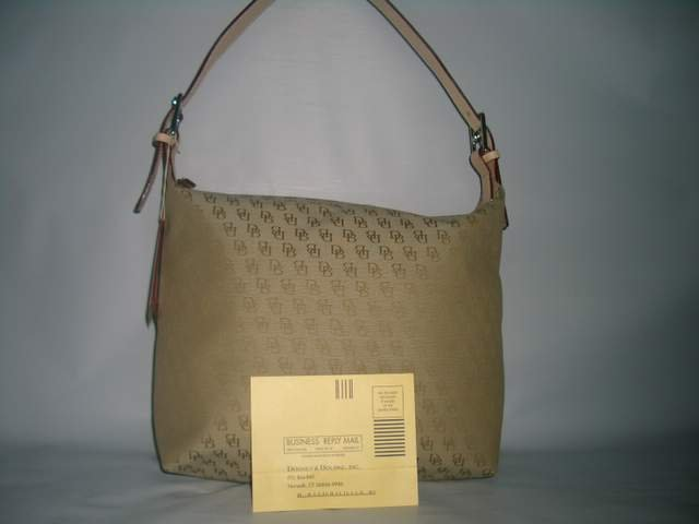 NEW DOONEY AND/& BOURKE BURKE TAUPE SHOULDER SAC BAG HANDBAG PURSE