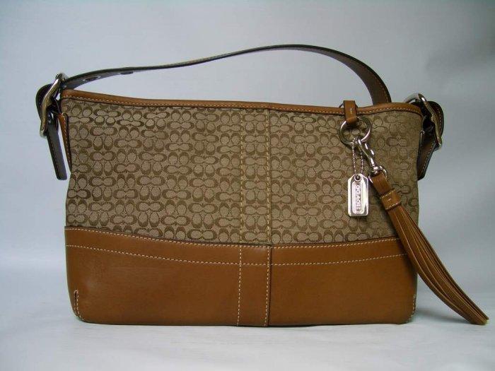Authentic Coach Mini Signature Soft Dufle Handbag