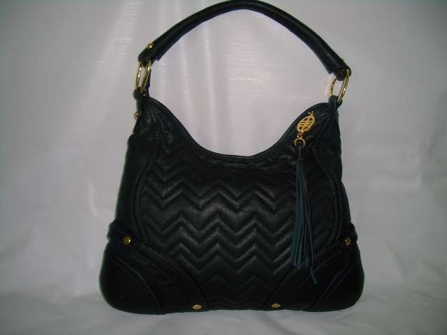 Via spiga black leather handbag Purse