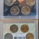 2005 P & D Ocen In View Set ~ Westward Series Nickels! GOLD & SILVER PLATED!