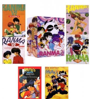 Ranma 1/2 - Complete Anime Series + OVA + Movies - Season 1,2,3,4,5,6,7+OVA+Movie DVD Set Collection