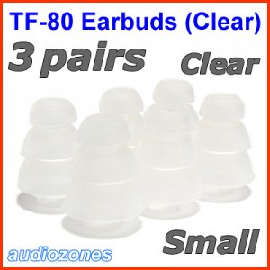 Small Replacement Triple Flange Ear Buds Tips Sleeves Cushions for JAYS d-JAYS q-JAYS s-JAYS @Clear