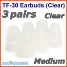 Medium Triple Flange Ear Buds Tips for Ultimate Ears UE 400 400vi 500 500vi 600 600vi 700 900 @Clear