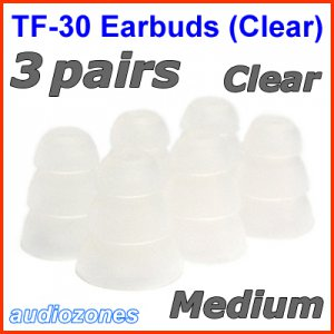 Medium Triple Flange Ear Buds Tips for Ultimate Ears UE 400 400vi 500 500vi 600 600vi 700 900 @Clear