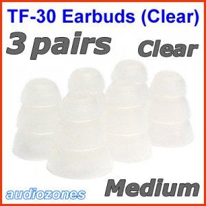 Medium Triple Flange Ear Buds Tips Pad for Ultimate Ears UE In Ear Earphones TripleFi 10 10vi @Clear