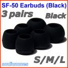 Replacement Ear Buds Tips Cushions for Creative HS-660i2 MA200 MA330 EP-3NC HS-730i EP-635 @Black