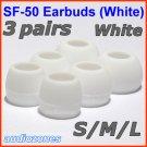 Replacement Ear Buds Tips Cushions for Sennheiser CX 300 300-II 400 400-II 500 CXL 300 II 400 @White