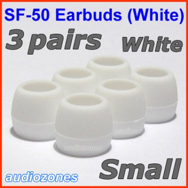 Small Replacement Ear Buds Tips Cushions for Creative HS-660i2 MA200 MA330 EP-3NC HS-730i @White