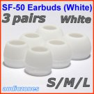 Replacement Ear Buds Tips Cushions for Creative HS-660i2 MA200 MA330 EP-3NC HS-730i EP-635 @White