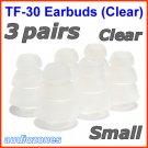 Small Triple Flange Ear Buds Tips Pads Cushions for Beyerdynamic In-Ear Earphones Headphones @Clear