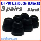 Double Flange Ear Buds Tips Pads Cushions for Audio-Technica In-Ear Earphones Headphones @Black