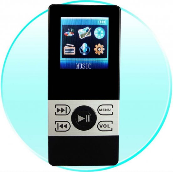 2GB Pocket Mp3/Mp4 Video Player - 1.5 Inch Screen - Dual Earphone