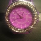 Purple silicone watch with CZ