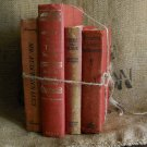 Vintage Book Bundle  | Red | Decor | Prop | Movie Set | Craft