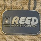 REED Rock Bit Co. Solid Brass Belt Buckle