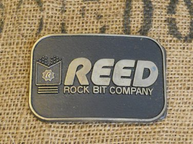 REED Rock Bit Co. Solid Brass Belt Buckle
