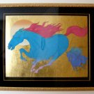 "Azoulay Original Serigraph w/ Gold Leaf ""Equus"" 39"" x 45"" Deluxe Lim. Ed. w/COA OFFERS CONSIDERED"