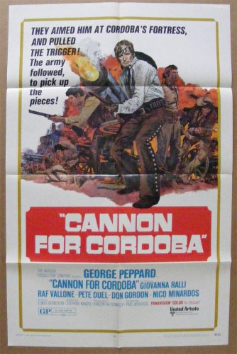"""Cannon for Cordoba"" 1 sh Original Movie Poster Vintage 1970"