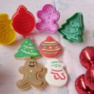 Cookie Cutter Stamp Mold 4pcs Christmas Series Pie Crust Cutter Set