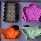 Cookie Cutter Stamp Mold 4pcs AFTERNOON TEA Series DIFFERENT SHAPE Pie Crust Cutter Set