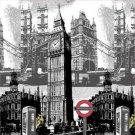 LONDON BIG BEN 180x 180cm Cool & Adorable Design Waterproof Shower Curtain Set