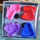 Cookie Cutter Stamp Mold 4pcs DRESS UP PRINCESS Series Pie Crust Cutter Set
