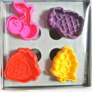 Cookie Cutter Stamp Mold 4pcs FRUIT Series Pie Crust Cutter Set