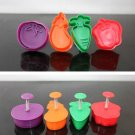 Cookie Cutter Stamp Mold 4pcs VEGETABLE Series Pie Crust Cutter Set