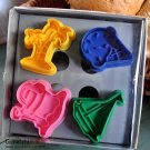 Cookie Cutter Stamp Mold 4pcs BEACH SUMMER Series Pie Crust Cutter Set
